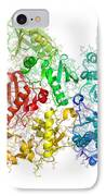 Reverse Transcriptase Enzyme From Hiv IPhone Case by Laguna Design