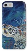 Rhapsody In Blue IPhone Case by Danielle  Perry