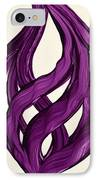 Ribbons Of Love-violet IPhone Case