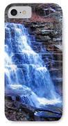 Ricketts Glen Waterfall 3941  IPhone Case by David Dehner