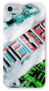 Ride In Powder Snowboard Graphics In The Snow IPhone Case by Andy Smy