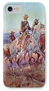 Riders Of The Open Range IPhone Case by Charles Marion Russell