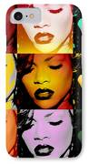 Rihanna Warhol By Gbs IPhone Case by Anibal Diaz