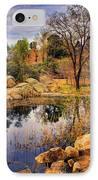 Rock House At Granite Dells IPhone Case by Priscilla Burgers