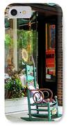 Rocking Chair By Boutique IPhone Case by Susan Savad