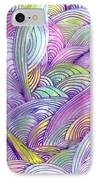 Rolling Patterns In Pastel IPhone Case by Wayne Potrafka