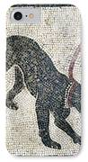Roman Guard Dog Mosaic IPhone Case by Sheila Terry