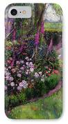 Rose Bed And Geese IPhone Case by Timothy Easton