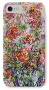 Rose Bouquet In Glass Vase IPhone Case
