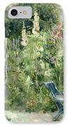 Roses Tremieres IPhone Case by Berthe Morisot