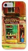 Rothchilds Jewellers On Park Avenue IPhone Case by Carole Spandau