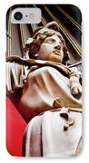 Rotunda Colossals 2 Of 3 Vatican Museum Ancient Statues Rome Italy IPhone Case by Andy Smy