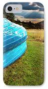 Row Boats In Waiting IPhone Case by Meirion Matthias