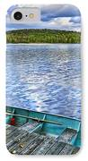 Rowboats On Lake At Dusk IPhone Case by Elena Elisseeva
