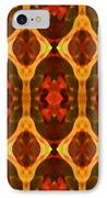 Ruby Glow Pattern IPhone Case by Amy Vangsgard