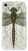 Ruby Meadowhawk Dragonfly IPhone Case by Charles Harden