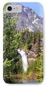 Running Eagle Falls Glacier National Park IPhone Case