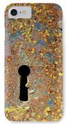 Rusty Key-hole IPhone Case by Carlos Caetano