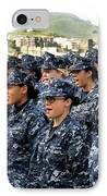 Sailors Yell Before An All-hands Call IPhone Case by Stocktrek Images