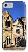 Saint Francis Cathedral Santa Fe IPhone Case by Kurt Van Wagner