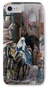 Saint Joseph Seeks Lodging In Bethlehem IPhone Case
