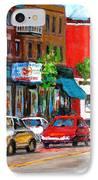 Saint Viateur Street IPhone Case
