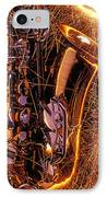 Sax With Sparks IPhone Case by Garry Gay