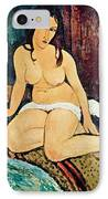 Seated Nude IPhone Case by Amedeo Modigliani
