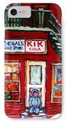 Segal's Market St.lawrence Boulevard Montreal IPhone Case by Carole Spandau