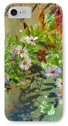 September Birthday Aster IPhone Case by Kristin Elmquist