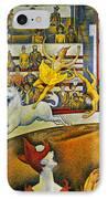 Seurat: Circus, 1891 IPhone Case