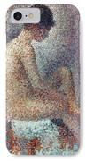 Seurat: Model, 1887 IPhone Case