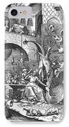 Seven Deadly Sins, 1558 IPhone Case by Granger