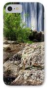 Shady Lake Falls IPhone Case by Lana Trussell