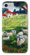 Sheeps In A Field IPhone Case