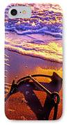 Ships Anchor On Beach IPhone Case by Garry Gay