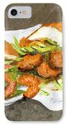 Shrimp On French Dressed IPhone Case by Elaine Hodges