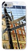 Signpost In London IPhone Case by Elena Elisseeva