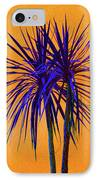 Silhouette On Orange IPhone Case by Margaret Saheed