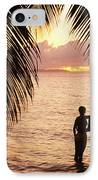 Silhouetted Couple IPhone Case by Larry Dale Gordon - Printscapes