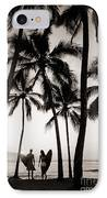 Silhouetted Surfers - Sep IPhone Case