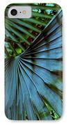 Silver Palm Leaf IPhone Case by Susanne Van Hulst