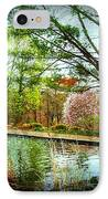Sit And Ponder - Deep Cut Gardens IPhone Case by Angie Tirado