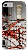 Slc Temple Red White N Black IPhone Case by La Rae  Roberts