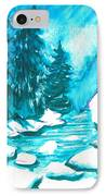 Snowy Creek Banks IPhone Case by Seth Weaver