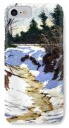 Snowy Ditch IPhone Case by Mary McInnis