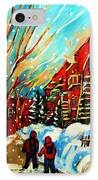 Softly Snowing IPhone Case