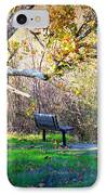 Solitude Under The Sycamore IPhone Case by Carol Groenen