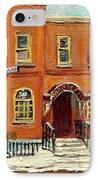 Solomons Temple Montreal Bagg Street Shul IPhone Case by Carole Spandau