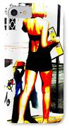 South Beach Waitress IPhone Case by Funkpix Photo Hunter